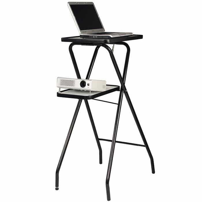 Foldable Projector Stand with 2 Platforms for Projector and Laptop
