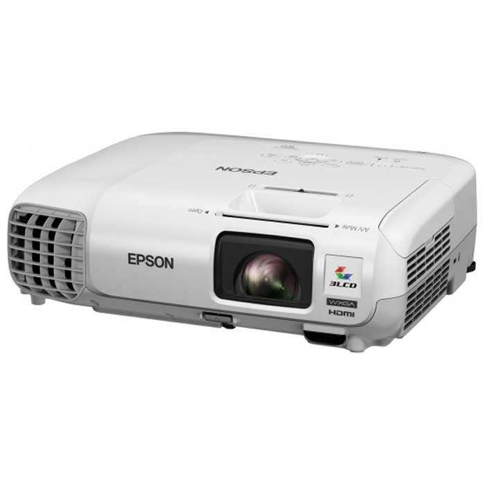 Epson PowerLite W29 WXGA 3LCD Projector, 3000 Lumens, Model: V11H690020