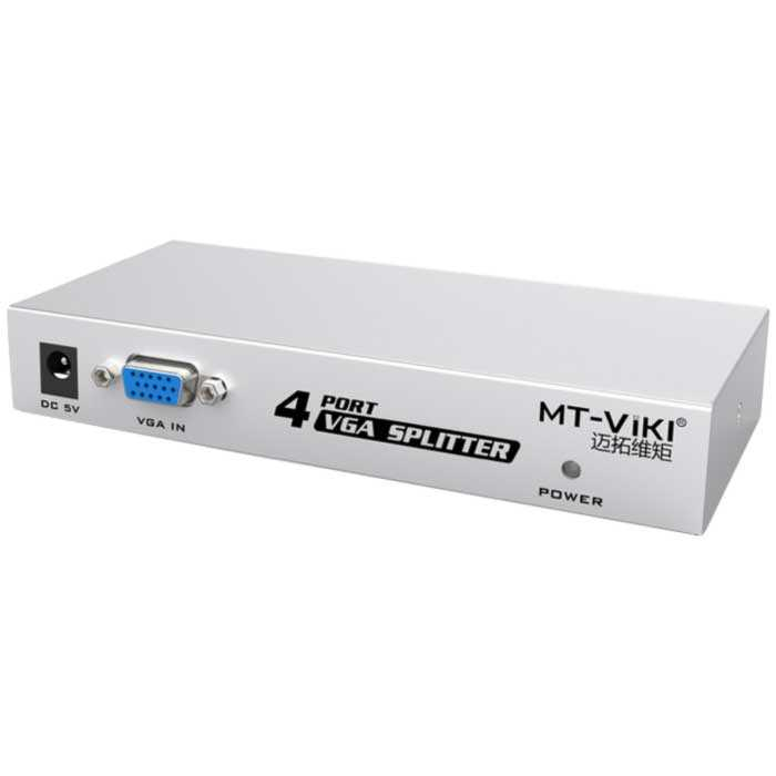 MT-VIKI 4-Port VGA Splitter - 1 VGA Input and 4 VGA Output Splitter, 150MHz Max Bandwidth, Support 1920x1440 Resolution