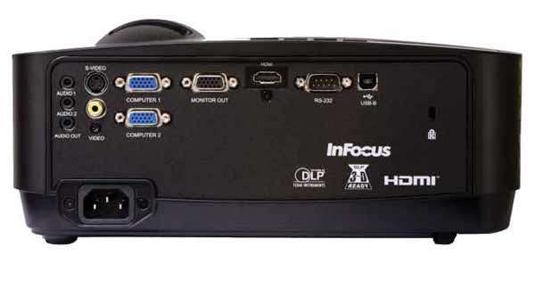 Back view InFocus IN122a projector